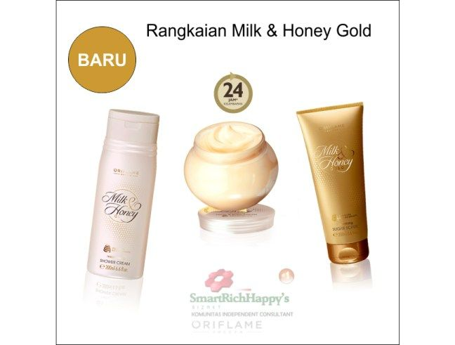Baru Milk & Honey Gold Oriflame dalam Formula dan kemasan baru. Perawatan Tubuh terbaik untuk memanjakan kulit dengan aroma lembut mewah membuat kulit sehat indah lembab, lembut dan cerah alami selengkapnya lihat disni ya http://idayunisthyaputri.com/terbaru-rangkaian-perawatan-tubuh-terbaik-oriflame-milk-honey-gold-31602-31601-31605/ Pemesanan hub : Ida 54690A5E / 0818520925