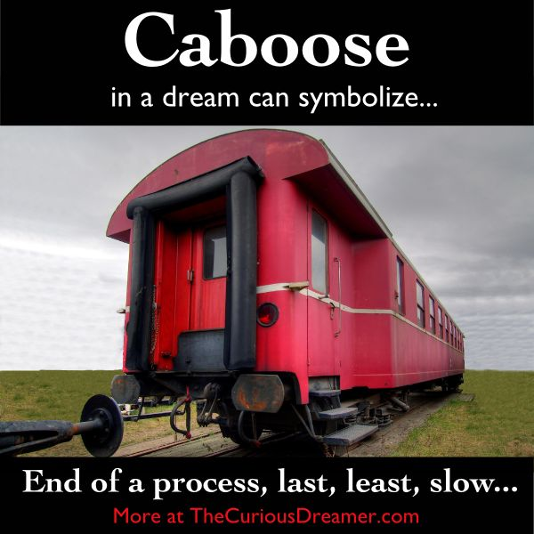 In a dream, a caboose or something that comes last can represent...  More at TheCuriousDreamer.  #DreamMeaning #DreamSymbol