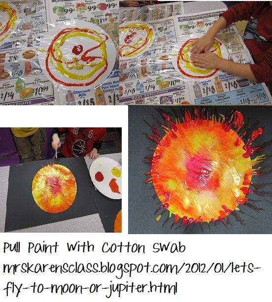 Outer space project - suns! Would work with little kids for sure.