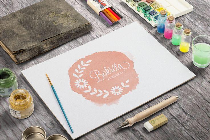 Bokréta virágbolt logó tervezés
