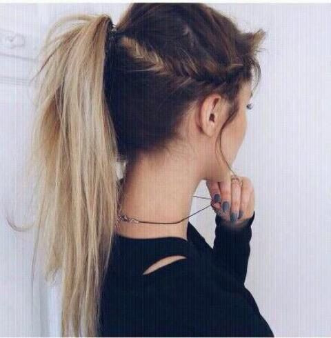 Grunge hairstyle!