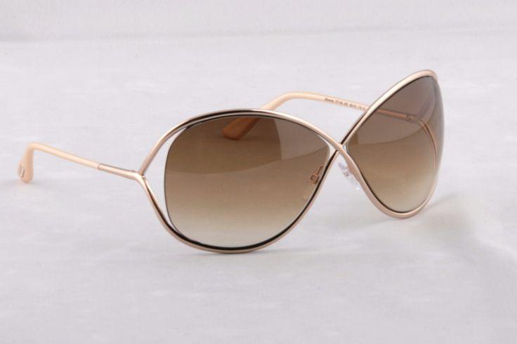 Tom Ford Miranda FT0130 SHINY BRONZE Sunglasses 28F