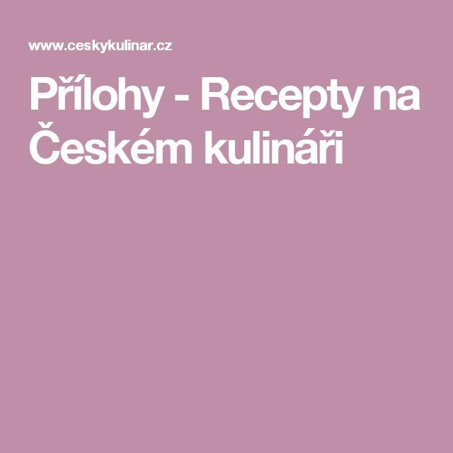 Přílohy - Recepty na Českém kulináři
