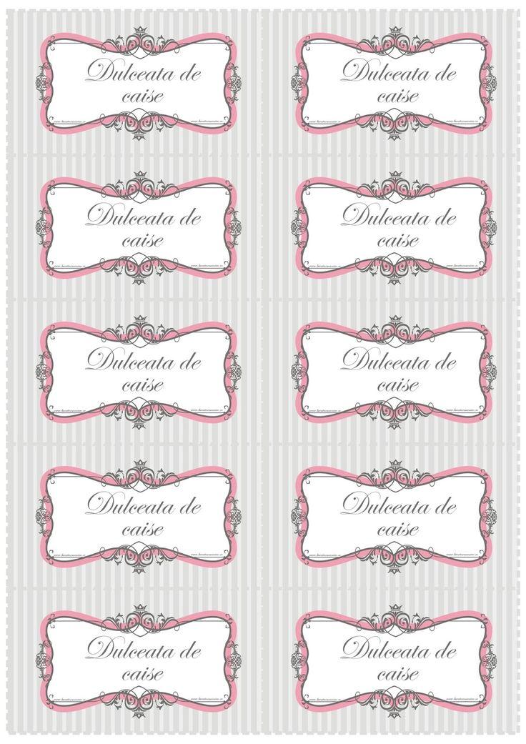 Idee de cadou: Etichete elegante pentru borcane
