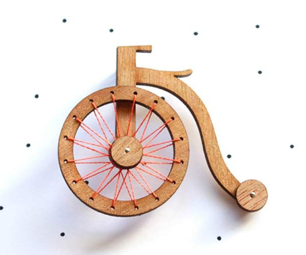 Adorable #penny-farthing brooch by @:: so little time :: so much to see:: made & designed in Australia <3