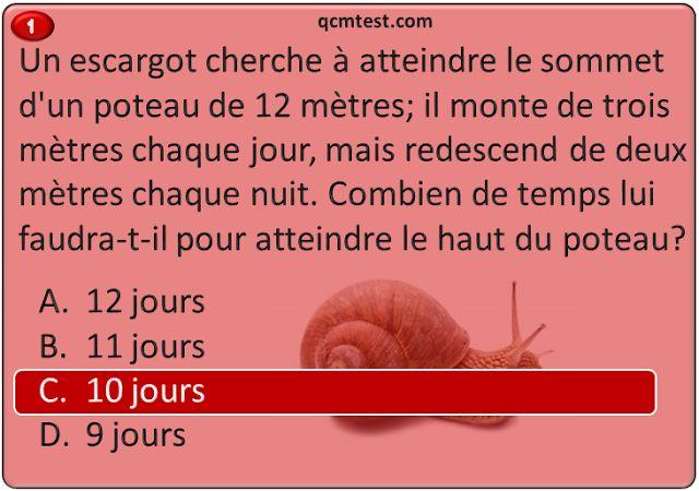 QCM-CONCOURS-GRATUITS: Les réponses aux questions de raisonnement logique devinettes, énigmes.