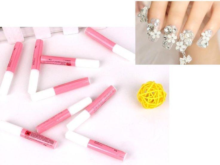 10 X 2 g Mini profissional da beleza falso Nail Art decorar dicas acrílico cola alishoppbrasil