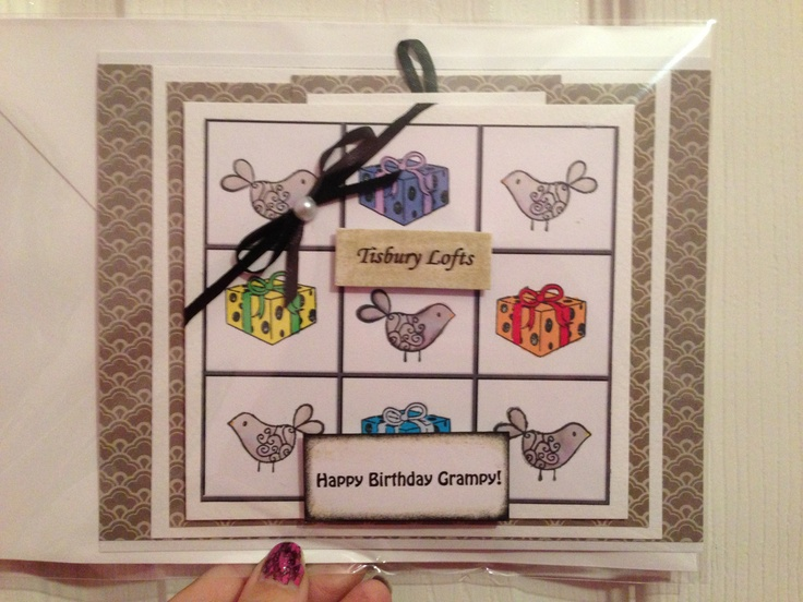 Personalised birthday card for a pigeon-racing fan!