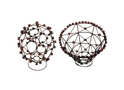 Iron & Enamel Rings by Bettina Dittlmann