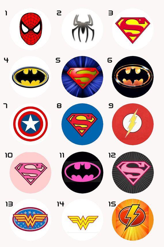 capas de superheroes logos
