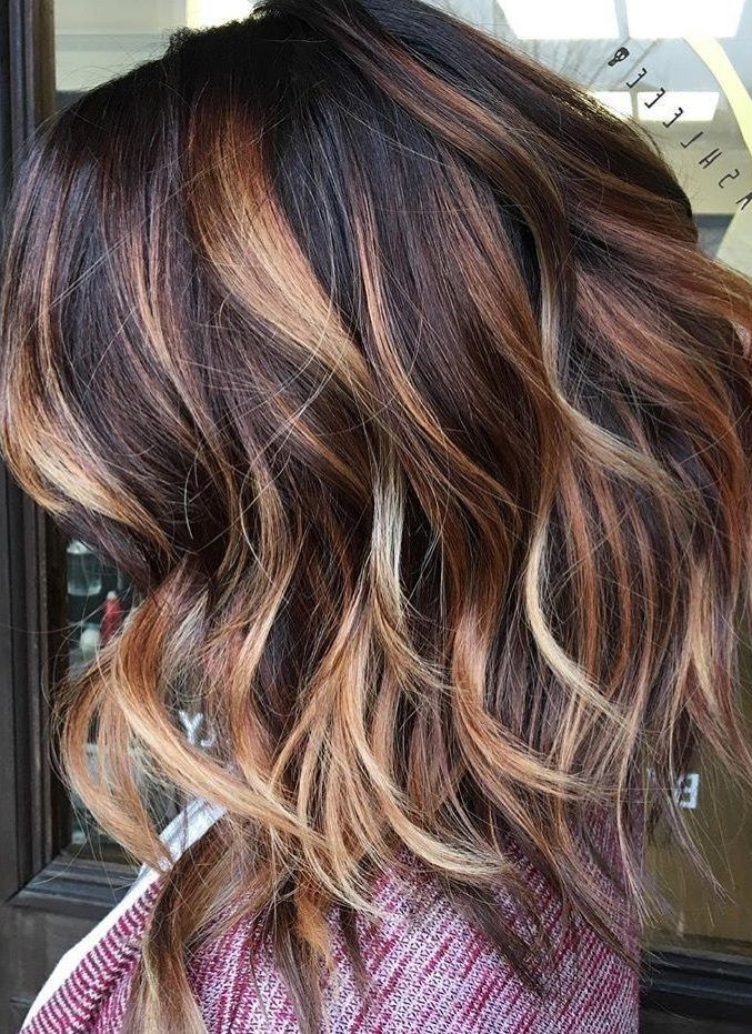 30 Fall Winter Hair Color Ideas For Short Hairstyles 2018 2019 Winter Hairstyles Peekaboo Hair Short Hair Styles