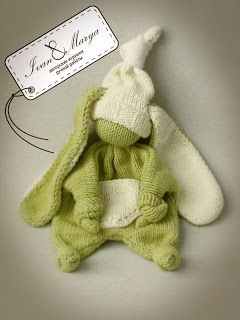 Knitted rabbit for baby