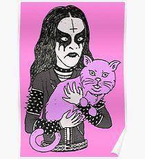 black metal cat Poster