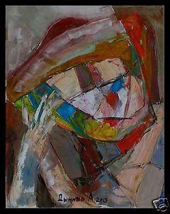 Akademischer-russischer-Maler-Alexander-Diener-1958-Kubismus-Moderne-Kunst-x