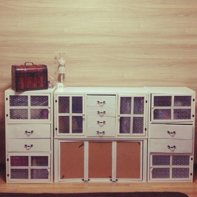 asakoさんの、リビング,ダイソー,カラーボックス,100均,DIY,手作り,リメイク,セリア,コーナン,のお部屋写真