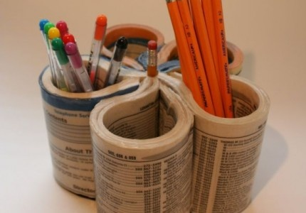 pencil holder with phonebook