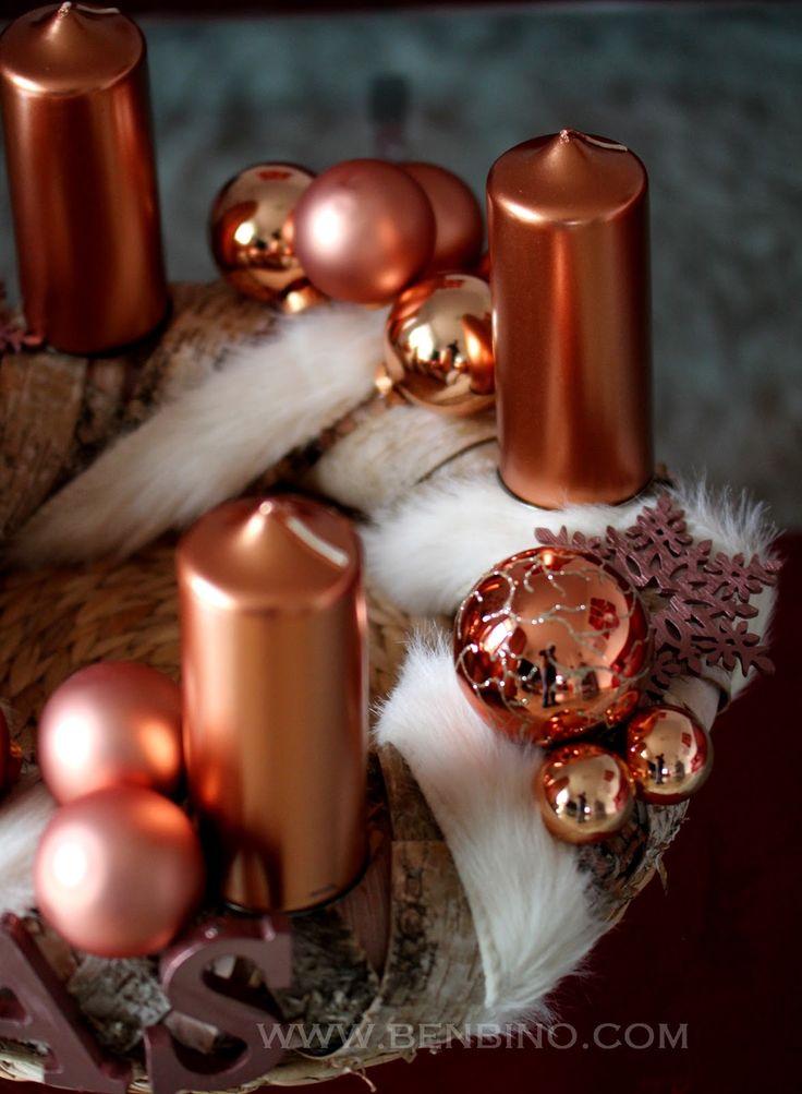 www.benbino.com   DIY   Adventskranz   tutorial   Anleitung   Kupfer   copper   Advent   Weihnachten   Christmas   wreath