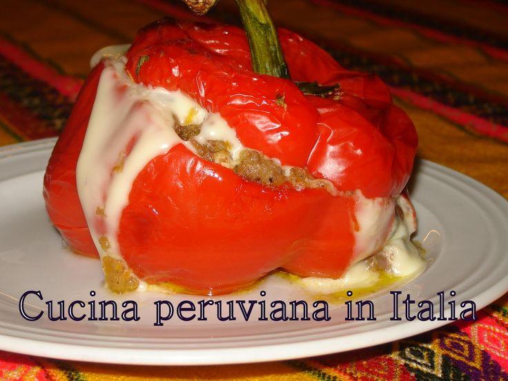 Cucina peruviana in Italia: Peperone ripieno tipo ROCOTO - Rocoto alternativo