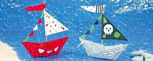 Papier-Schiffe falten leicht gemacht | Schiff falten ...