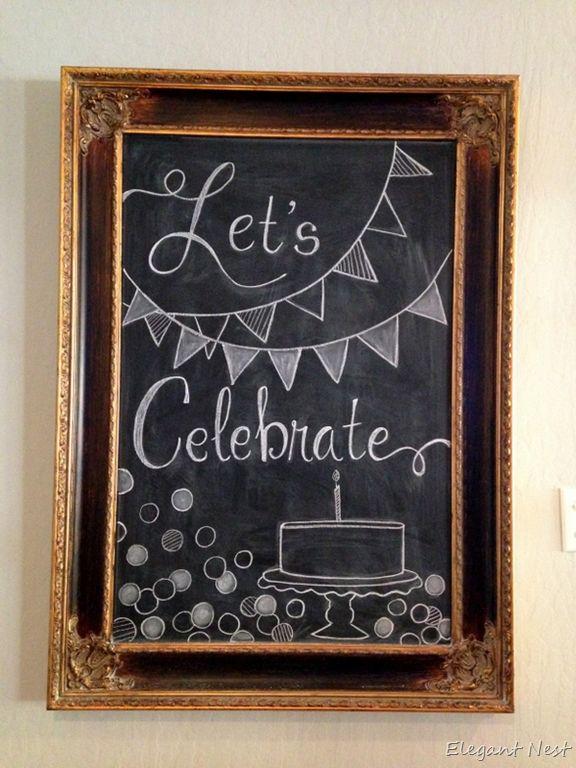Birthday Chalk Art via Elegant Nest