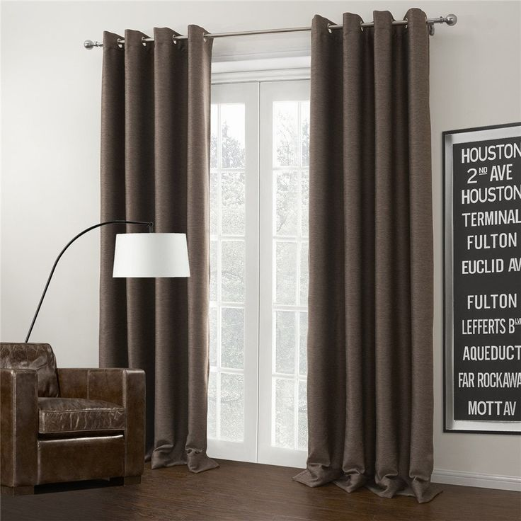 IYUEGOU Brown Solid Grommet Top Lining Blackout Curtains Draperies With Multi Size Customs 84' W x 102' L (One Panel) *** Awesome product. Click the image (This is an amazon affiliate link. I may earn commission from it)