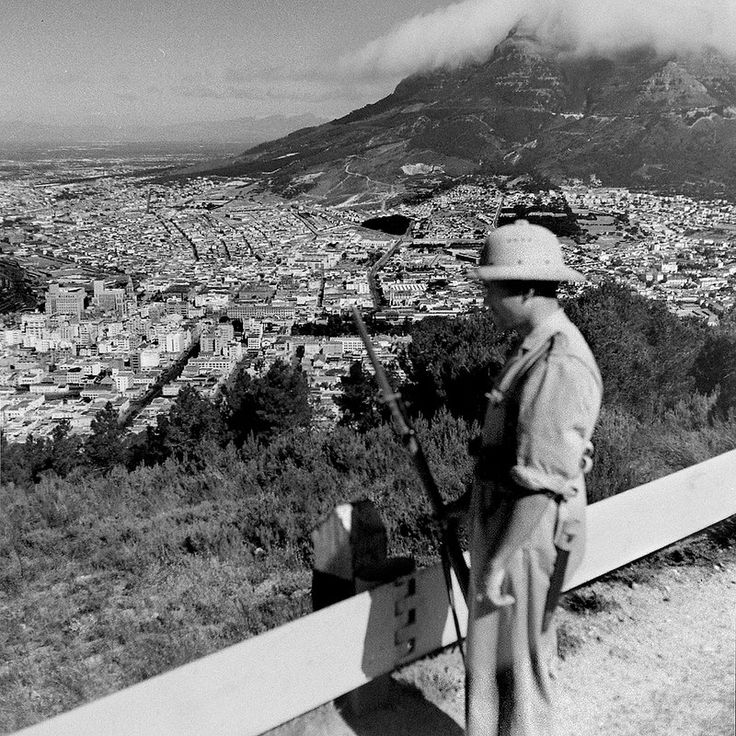 Sentry on Signal Hill, Cape Town 1943. | by Etiennedup