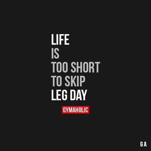 Never skip leg day my friend.  #motivation #workouts  #healthy