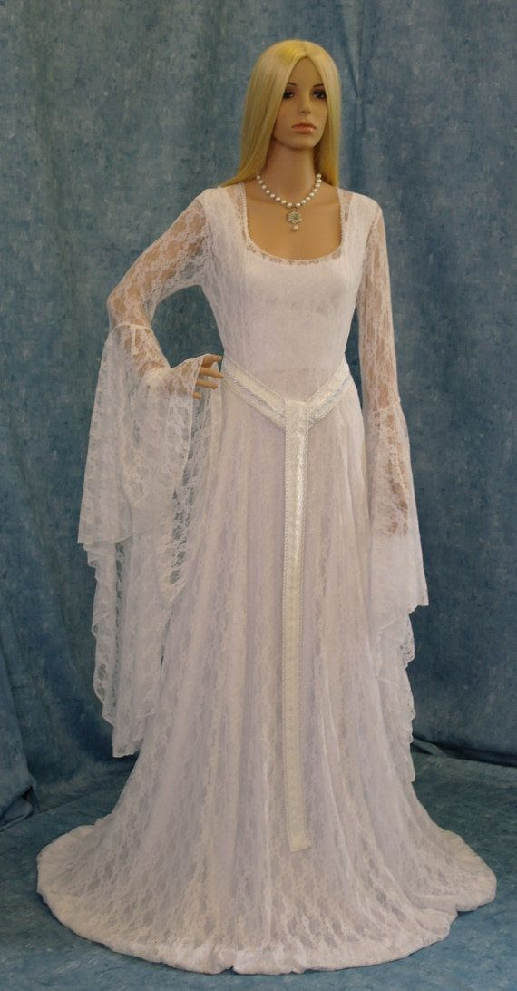 Hey, I found this really awesome Etsy listing at https://www.etsy.com/listing/110727559/galadriel-white-lace-dress-lotr-hobbit