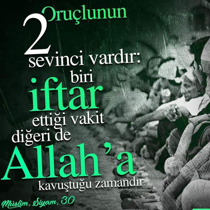 Oruçlunun iki sevinci vardır: Biri iftar ettiği vakit, diğeri de Allah'a kavuştuğu zamandır.  [Müslim, Siyam, 30]  #hayılıramazanlar #iftar #sahur #kavuşmak #oruç #ramazan #niyet #sevinç #hadis #ilmisuffa