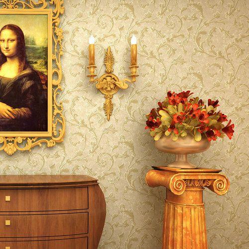 Водонепроницаемая и дышащая китайский труба лианы хаки обои спальня в европейском стиле роскоши ретро