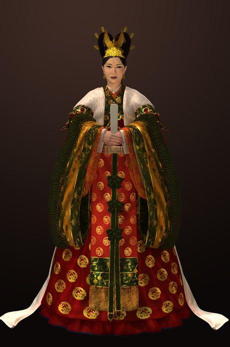 Goryeo Dynasty(AD918-1392) Korean queen's traditional clothes #hanbok