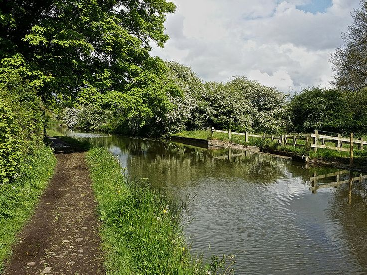 Follow the tow path past the weir, Rushall canal, Walsall.