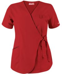 Butter-Soft Scrubs by UA™ Women's 3-Pocket Wrap Top Style # UA632C #uniformadvantage #scrubs #nurses #red