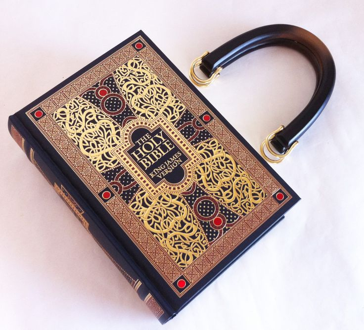 Holy Bible Book Purse  New Testament Book Clutch by NovelCreations, $60.00