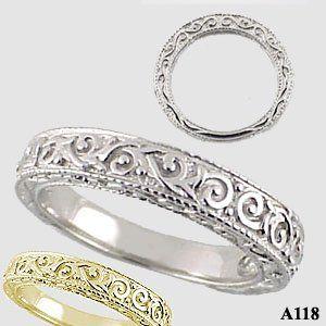 Trendy Platinum u kt Yellow Gold Wedding Ring in mm