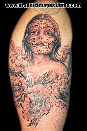 Sugar Skull Girl Tattoo | Brainsy Heart