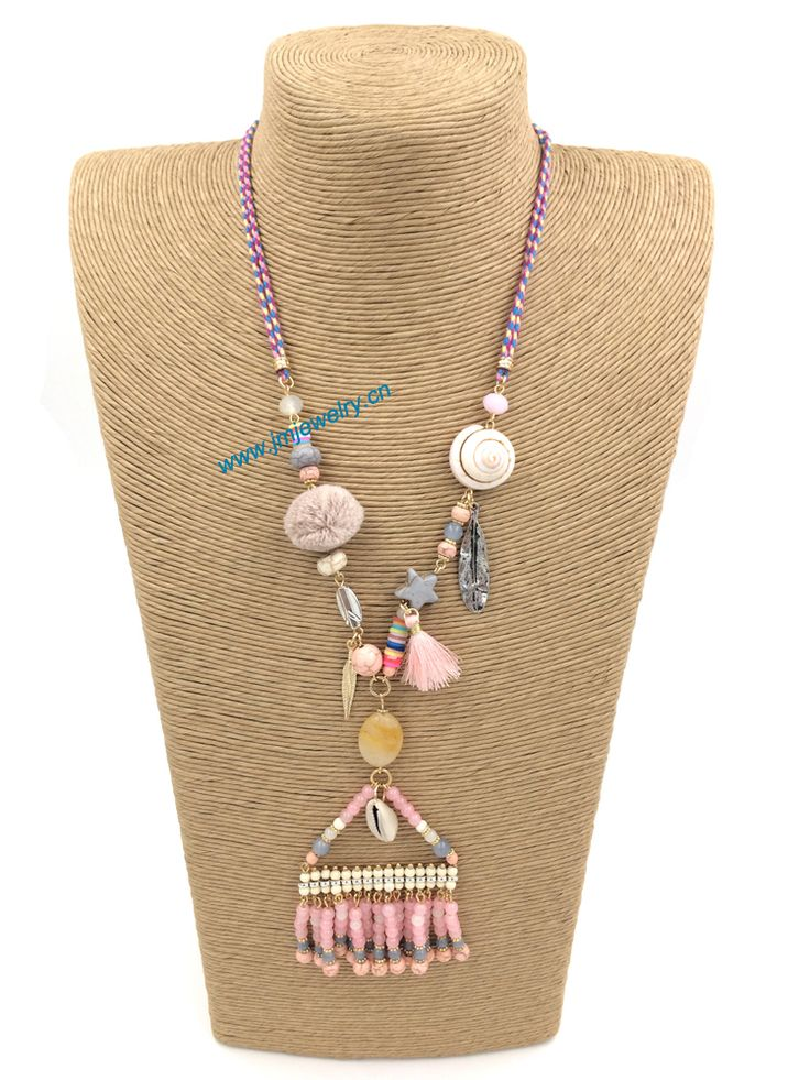 Handmade jewelry 1178 pinterest find more pendant necklaces information about 2015new personalized handmade jewelry supplier beaded fringe pendant boho long mozeypictures Gallery