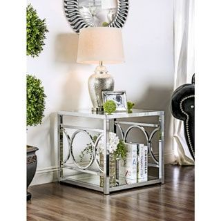 Shop for Furniture of America Mishie Contemporary Glass Top End Table. Get free shipping at Overstock.com - Your Online Furniture Outlet Store! Get 5% in rewards with Club O! - 18120788