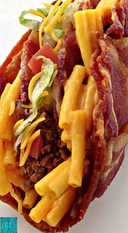 Bacon Weave Taco Shell with Mac 'n Cheese and Taco Filling ...