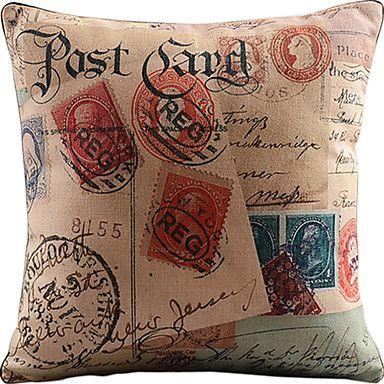 cartão-postal e selos algodão / linho impresso fronha decorativo de 2595327 2016 por R$53,30