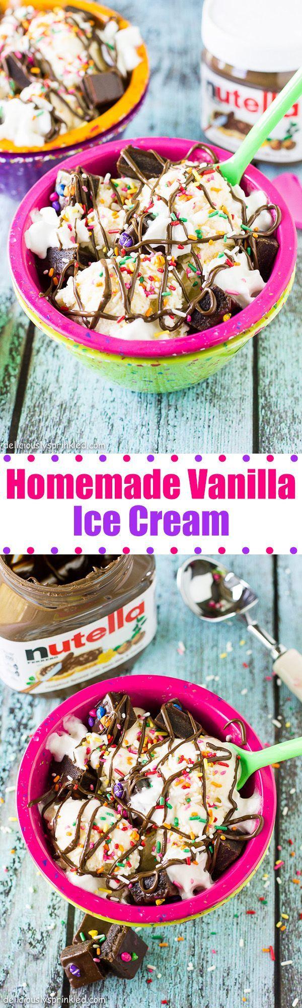 Homemade Vanilla Ice Cream--NO ICE CREAM MAKER REQUIRED!