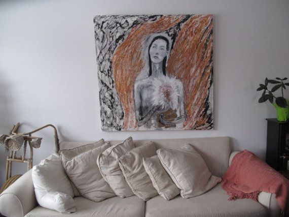 Original oil encaustic painting on stretched canvas by ArtShines