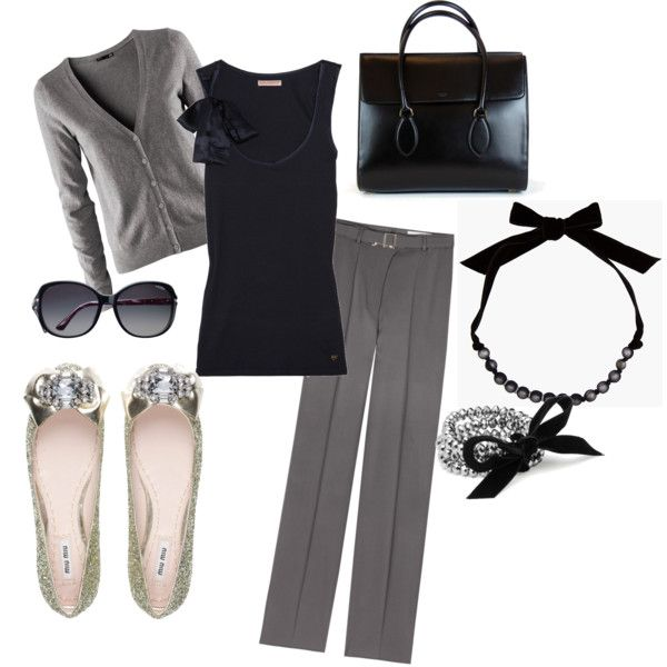 Black & Gray: Fashion, Style, Clothes, Work Wear, Work Outfits, Closet, Office Outfits, Black
