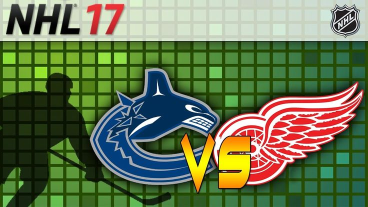 Vancouver Canucks vs Detroit Red Wings|NHL Matchday Simulation|NHL 17