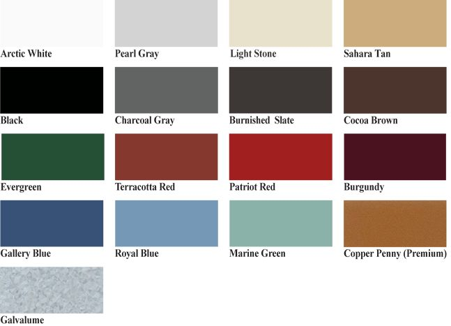 View A List Of Metal Roofing Materials Available From Best Buy Metals.