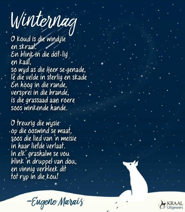 O koudjie is die windjie en skraal | Winternag | Eugene Marais | Afrikaanse gedigte