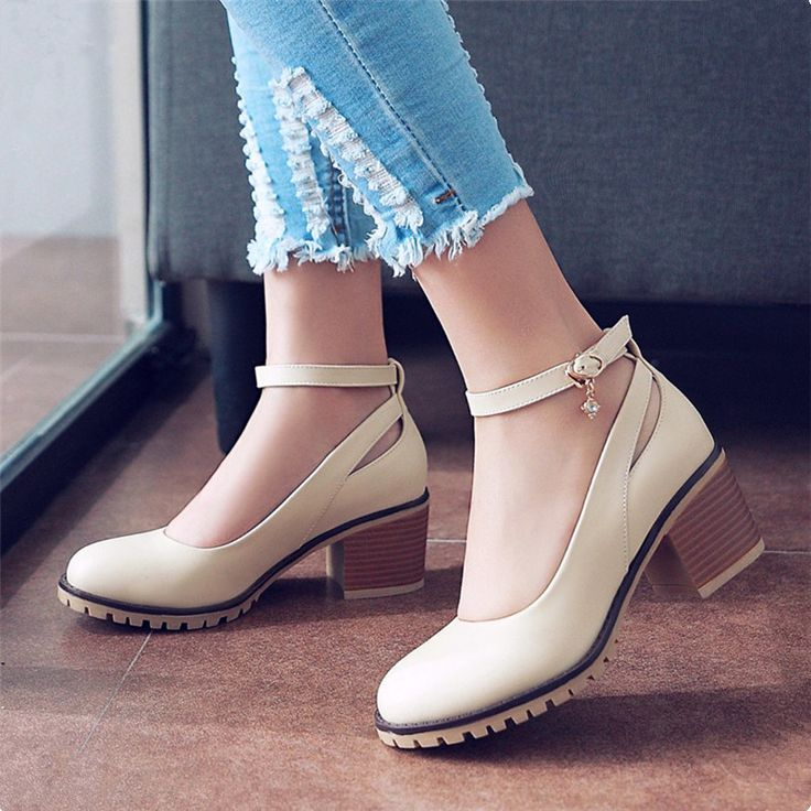2016High-heeled Fashion Cut-Outs Pumps Solid Women Soft Leather Rubber Casual Shoes Spring/Autumn Large size shoes Roman shoes
