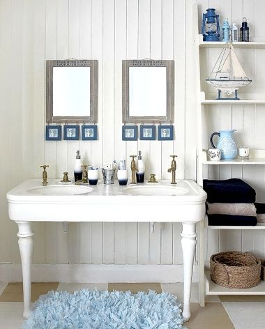 15 Beach Bathroom Ideas With A Coastal Nautical Theme: Http://www.