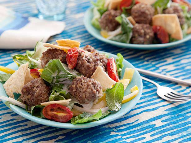 Greek Meatball Salad Recipe : Food Network Kitchen : Food Network - FoodNetwork.com