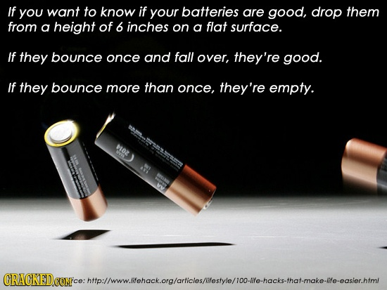 How to tell if a battery is ready for the trash! Life cheat